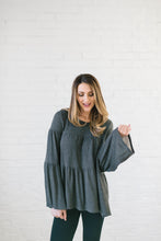 Load image into Gallery viewer, The Hazel Peplum in Gray