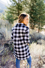 Load image into Gallery viewer, The Tristan Flannel Tunic In Black & White