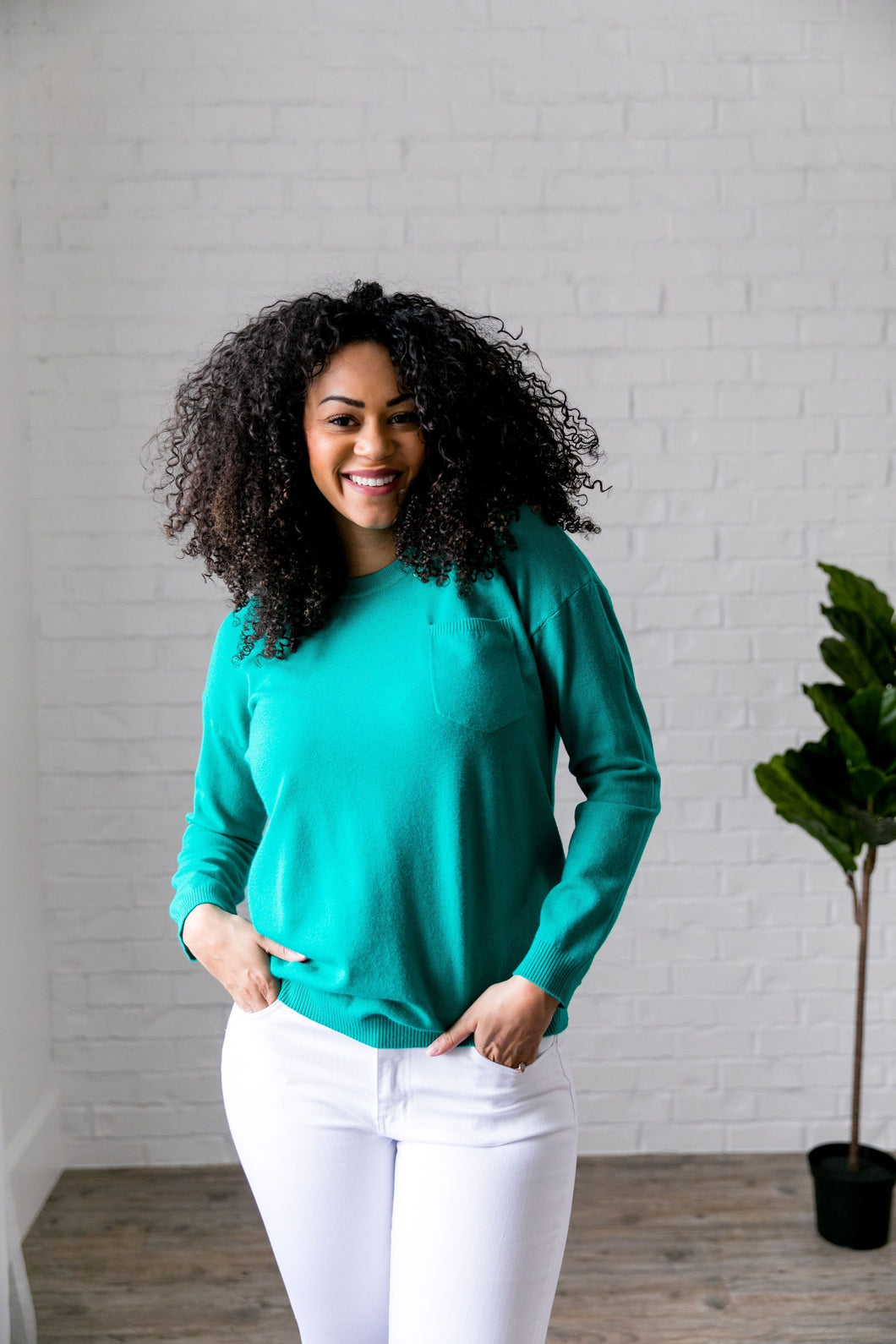 Top 'O The Mornin' Sweater In Emerald - ALL SALES FINAL
