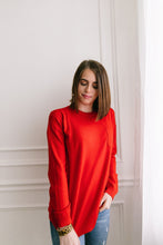Load image into Gallery viewer, Top 'O The Mornin' Sweater In Poppy - ALL SALES FINAL
