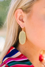 Load image into Gallery viewer, Translucent Stone Earrings In Greenland Olive - ALL SALES FINAL