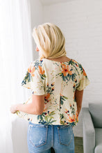 Load image into Gallery viewer, Tropical Paradise Blouse In Cream - ALL SALES FINAL