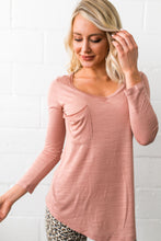 Load image into Gallery viewer, V-Neck Tee In Desert Blush - ALL SALES FINAL