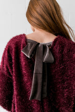 Load image into Gallery viewer, Velvet Ties Fuzzy Sweater - ALL SALES FINAL