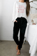 Load image into Gallery viewer, Very Velvety Velour Joggers In Black - ALL SALES FINAL