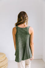 Load image into Gallery viewer, Vintage Wash Tank In Olive