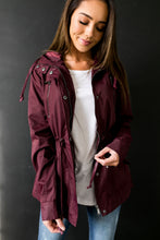Load image into Gallery viewer, Waterproof Hooded Anorak In Burgundy - ALL SALES FINAL