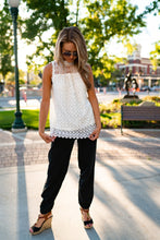 Load image into Gallery viewer, White Lace Sleeveless Top
