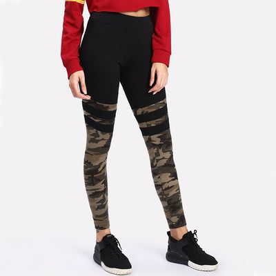 67f741059fa4f Active Camo Print Striped Leggings - Boutique Vine