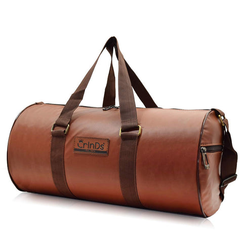 Crinds Leatherette Duffel Bag - Dazzling Brown
