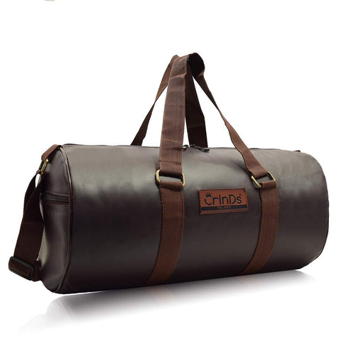 Crinds Leatherette Duffel Bag - Dashing Brown