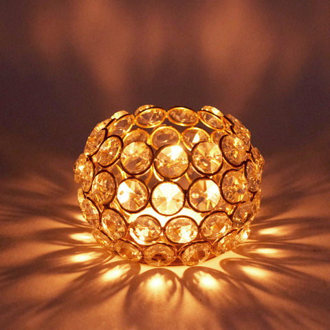 Crinds Crystal Ball Tea-Light Candle Lamp