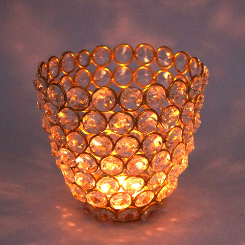 Crinds Glass Tea-Light Candle Lamp - Big