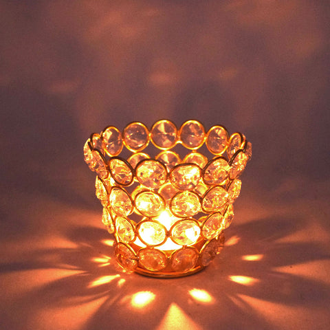 Crinds Glass Tea-Light Candle Lamp - Small
