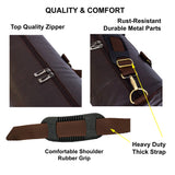 Crinds Leatherette Duffel Bag - Dark Brown