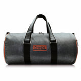 Crinds Leatherette Duffel Bag - Grey Orange