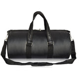 Crinds Leatherette Duffel Bag - Midnight Black