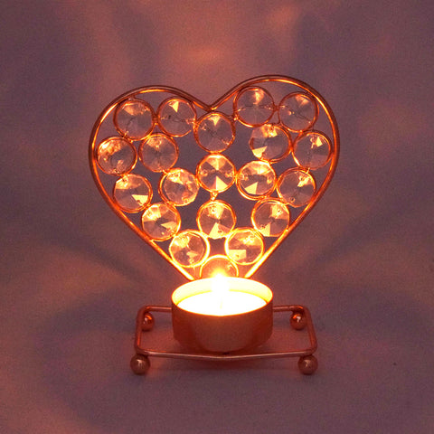 Crinds Heart Shape Candle Lamp Tea-Light
