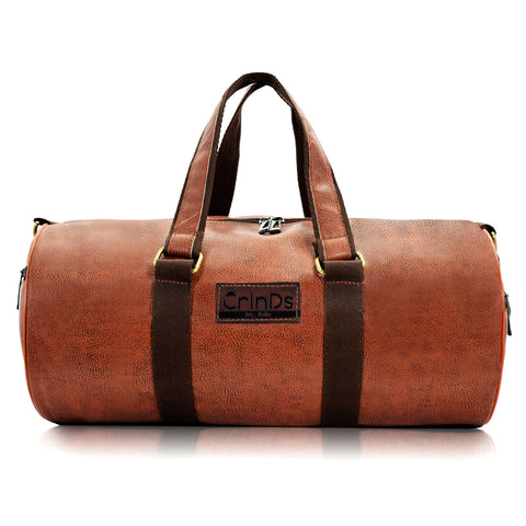 Crinds Leatherette Duffel Bag - SunSet Brown