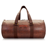 Crinds Leatherette Duffel Bag - Nut Brown