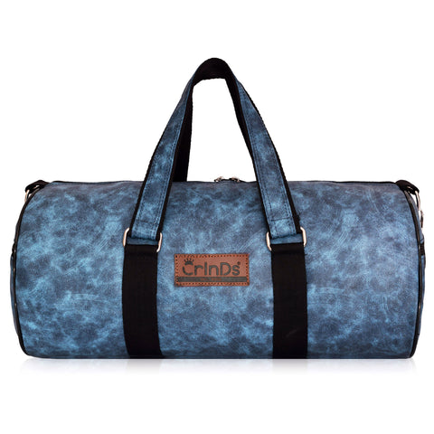 Crinds Leatherette Duffel Bag - Cool Blue