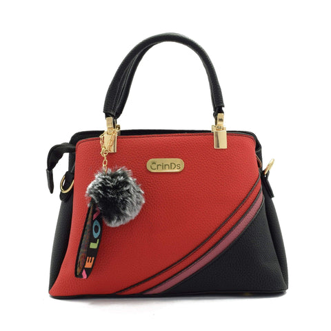 Crinds designer 2 Color Stripe Red Handbag Men Women Ladies Girls Handbags