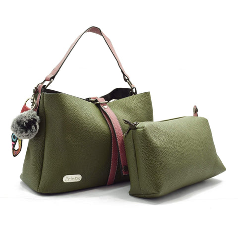 Crinds designer 2in1 Green satchel Hobo Men Women Ladies Girls Handbags