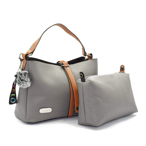Crinds designer 2in1 Grey satchel Hobo Men Women Ladies Girls Handbags