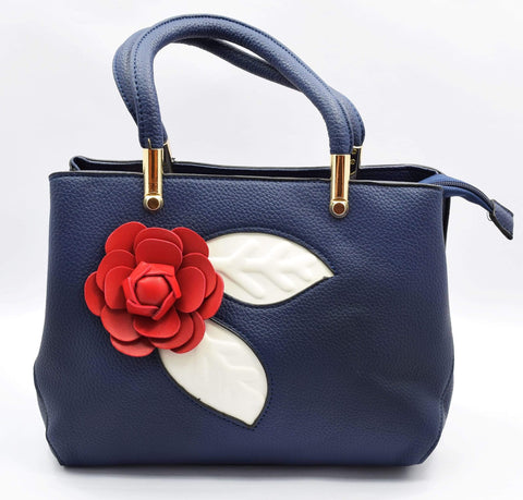 Crinds designer Applique rose handbag Men Women Ladies Girls Handbags