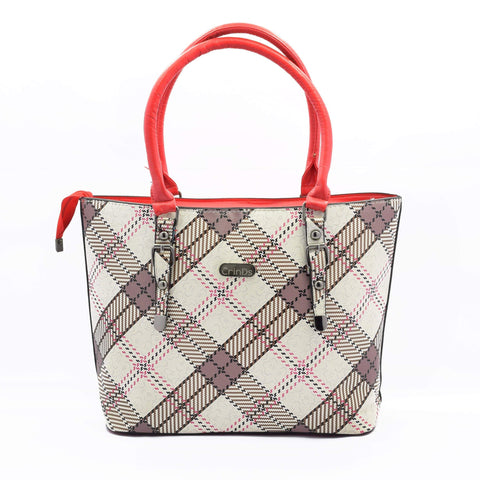 Crinds designer BB Check Red Tote Bag Men Women Ladies Girls Handbags