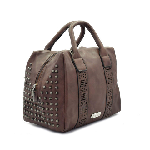 Crinds designer Big Chocolate Brown Square Duffle Bag Men Women Ladies Girls Handbags