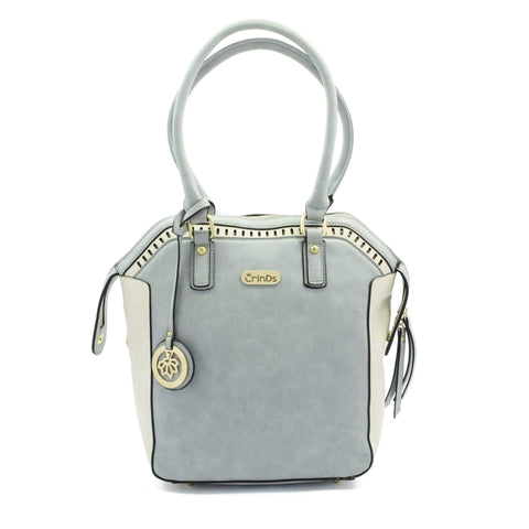 Crinds designer Big Handles Grey Shoulder Bag Men Women Ladies Girls Handbags