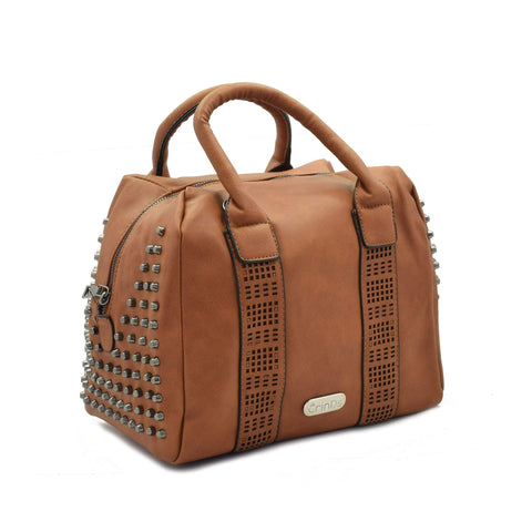 Crinds designer Big Orange Brown Square Duffle Bag Men Women Ladies Girls Handbags