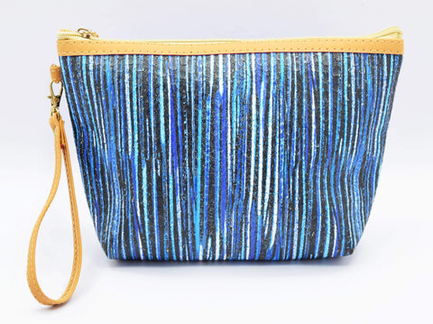 Crinds designer Blue line texture multi-purpose pouch Men Women Ladies Girls Pouch