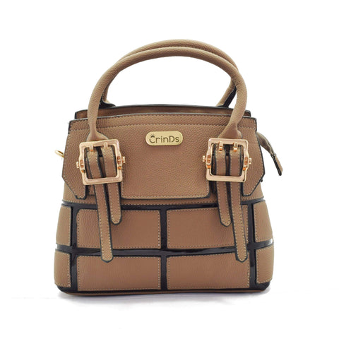 Crinds designer Buckle Brown Satchel Bag Men Women Ladies Girls Handbags