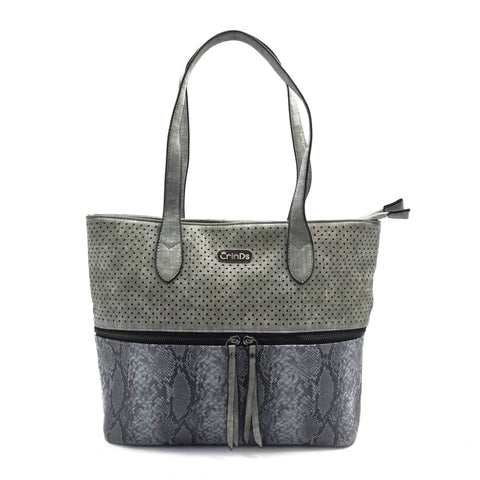 Crinds designer Center chain stylish Grey tote bag Men Women Ladies Girls Handbags