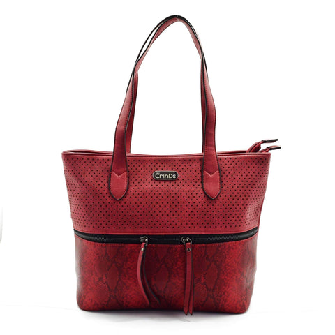 Crinds designer Center chain stylish Red tote bag Men Women Ladies Girls Handbags