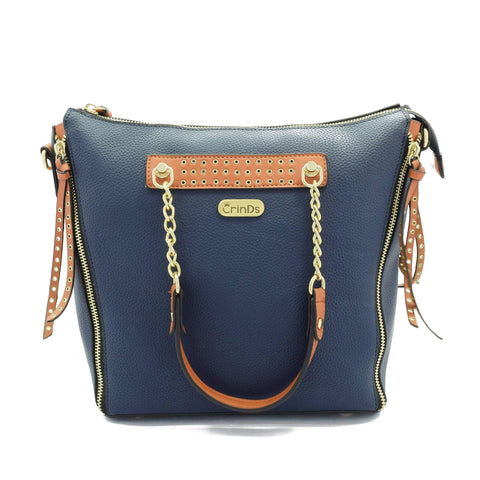 Crinds designer Chain handle Blue Shoulder Bag Men Women Ladies Girls Handbags