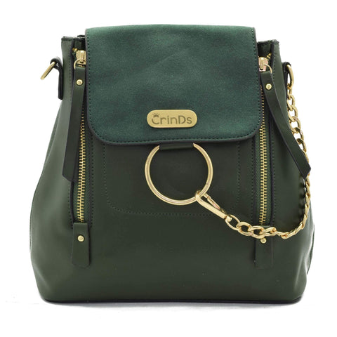 Crinds designer Chain Ring Green Casual Bag Men Women Ladies Girls Handbags