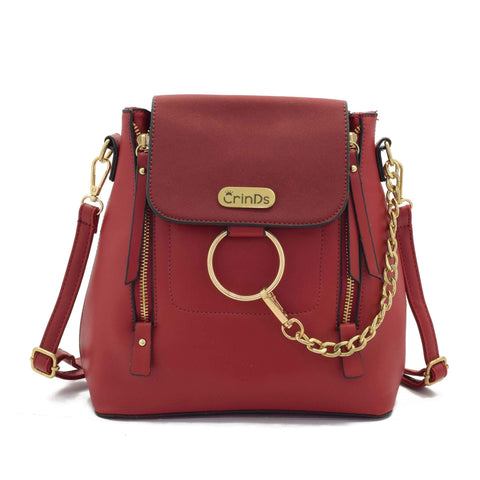 Crinds designer Chain Ring Red Casual Bag Men Women Ladies Girls Handbags