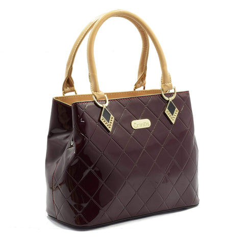 Crinds designer Cherry Shine Check Party Handbag Men Women Ladies Girls Handbags