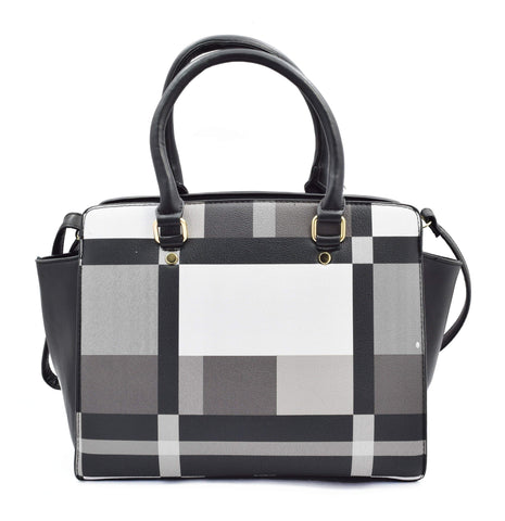 Crinds designer Classic Check B&W Handbag Men Women Ladies Girls Handbags