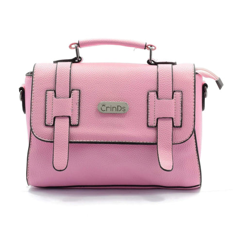 Crinds designer Classic Pink Satchel Handbag Men Women Ladies Girls Handbags