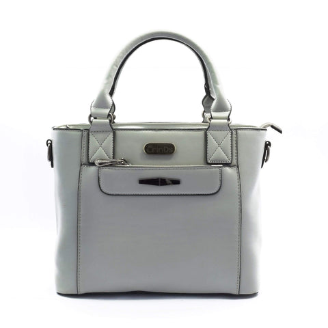 Crinds designer Classic Smart Grey Handbag Men Women Ladies Girls Handbags