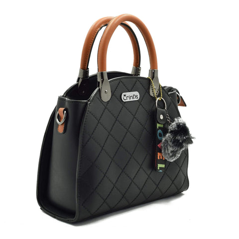 Crinds designer Classy Lady Black Handbag Men Women Ladies Girls Handbags