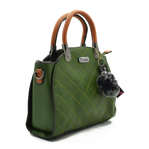 Crinds designer Classy Lady Green Handbag Men Women Ladies Girls Handbags