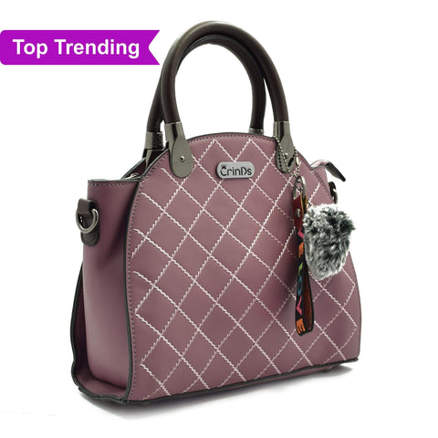 Crinds designer Classy Lady Purple Handbag Men Women Ladies Girls Handbags