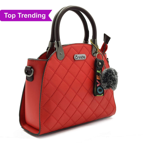 Crinds designer Classy Lady Red Handbag Men Women Ladies Girls Handbags