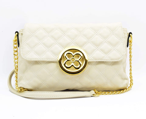 Crinds designer Classy look Gold & White Party Clutch Men Women Ladies Girls Clutch