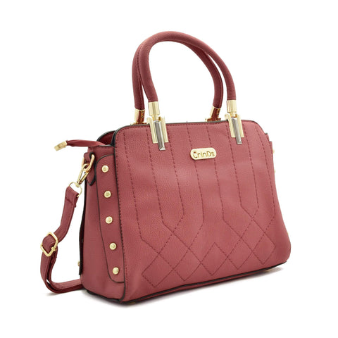 Crinds designer Classy Stich Stud Pink Handbag Men Women Ladies Girls Handbags